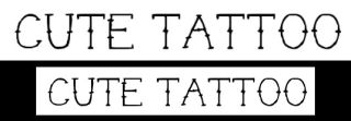 Tattoo fonts: Cute Tattoo