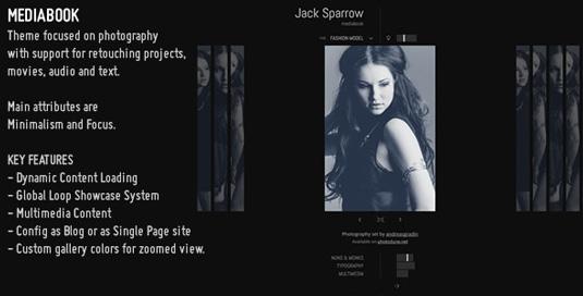 Portfolio WordPress theme - Media Book