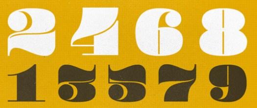 Retro fonts: Pompadour