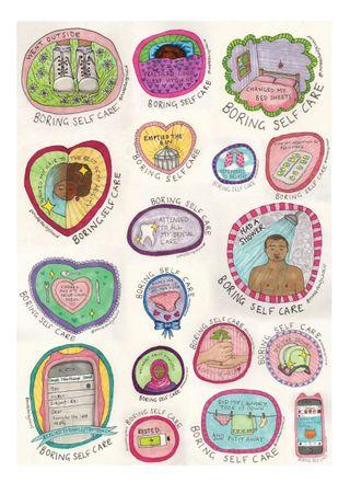 Daisy's Boring Self Care series celebrates simple self-care tasks
