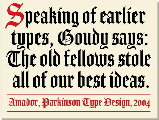 Old English fonts: Amador