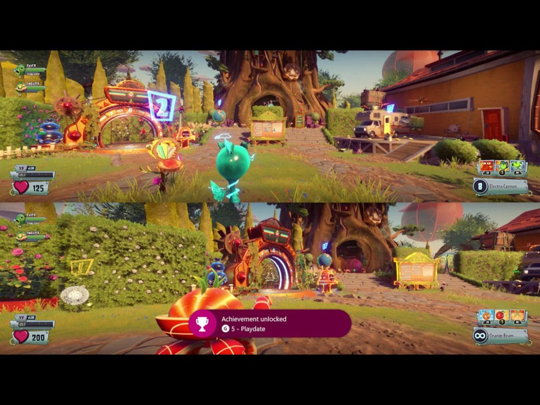 The best split screen PS4 games: plants vs. zombies garden warfare 2