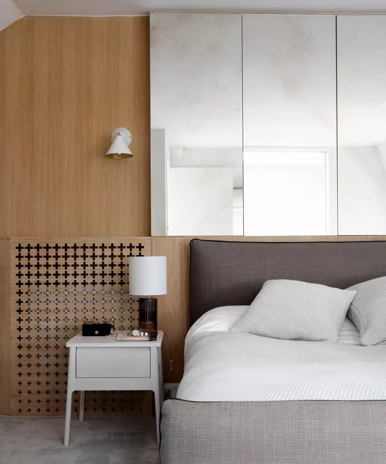 Bedroom accent wall ideas with storage