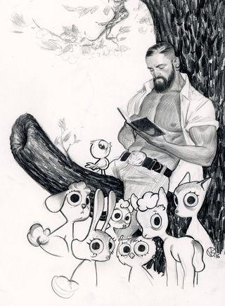 Viktor's sketchbook melds a range of styles