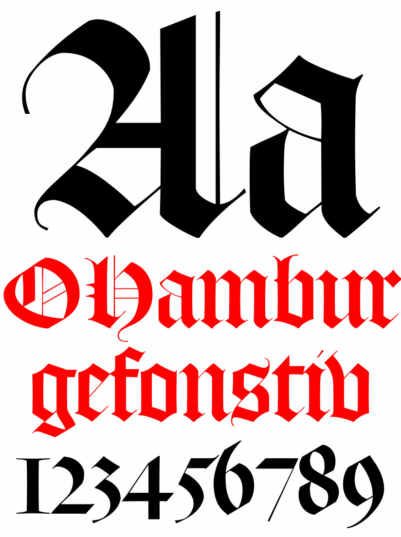 Old English fonts: DTL Flamade