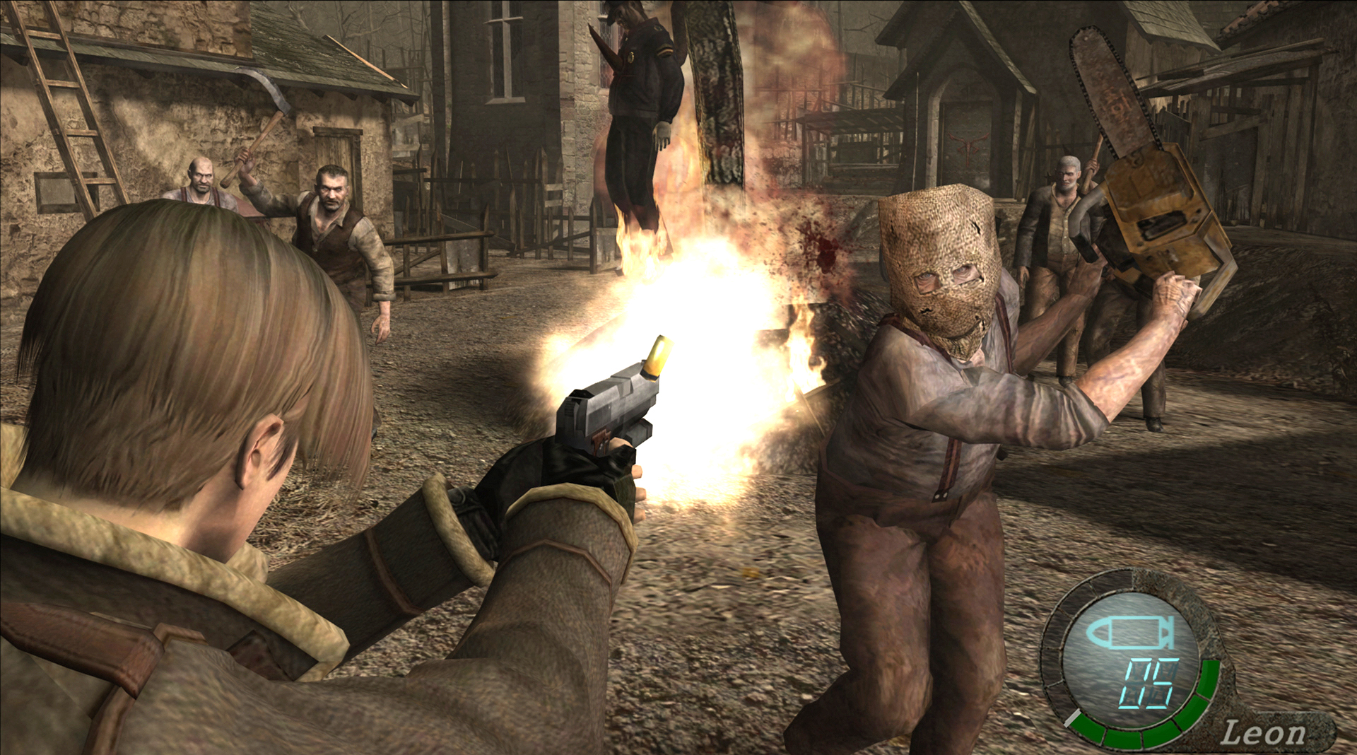 Image result for resident evil 4 chainsaw train
