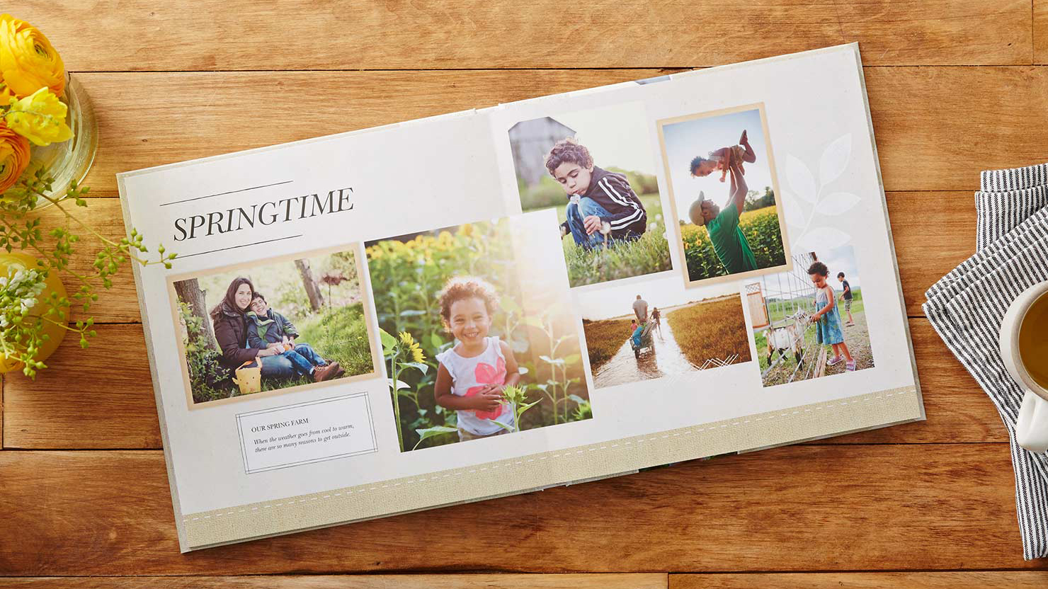 A photobook from Shutterfly