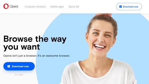 best web browsers: Opera
