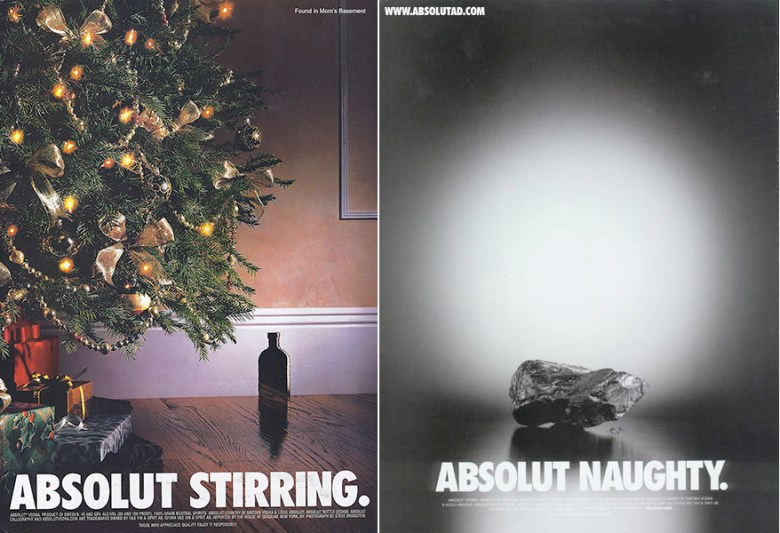 Best Christmas alcohol adverts: Absolut stirring/ Absolut naughty