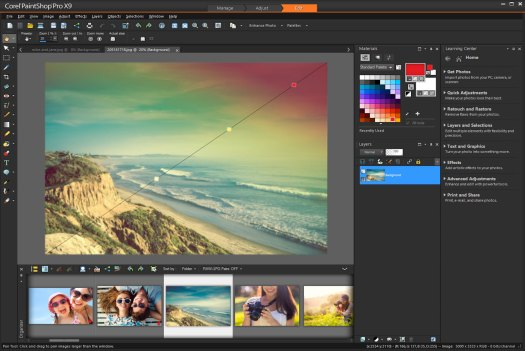 PaintShop Pro photo editing software