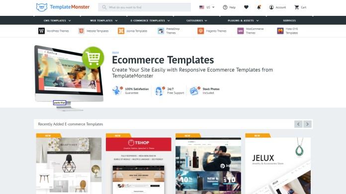 Choose a website design from Template Monster