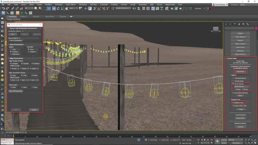 3ds Max - scatter lights in V-Ray