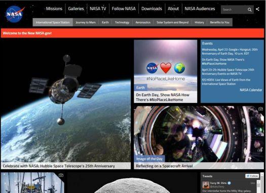 Nasa Website build with drupal cms