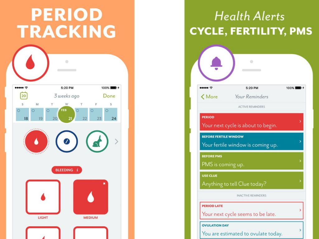 clue - period tracker iphone apps ios