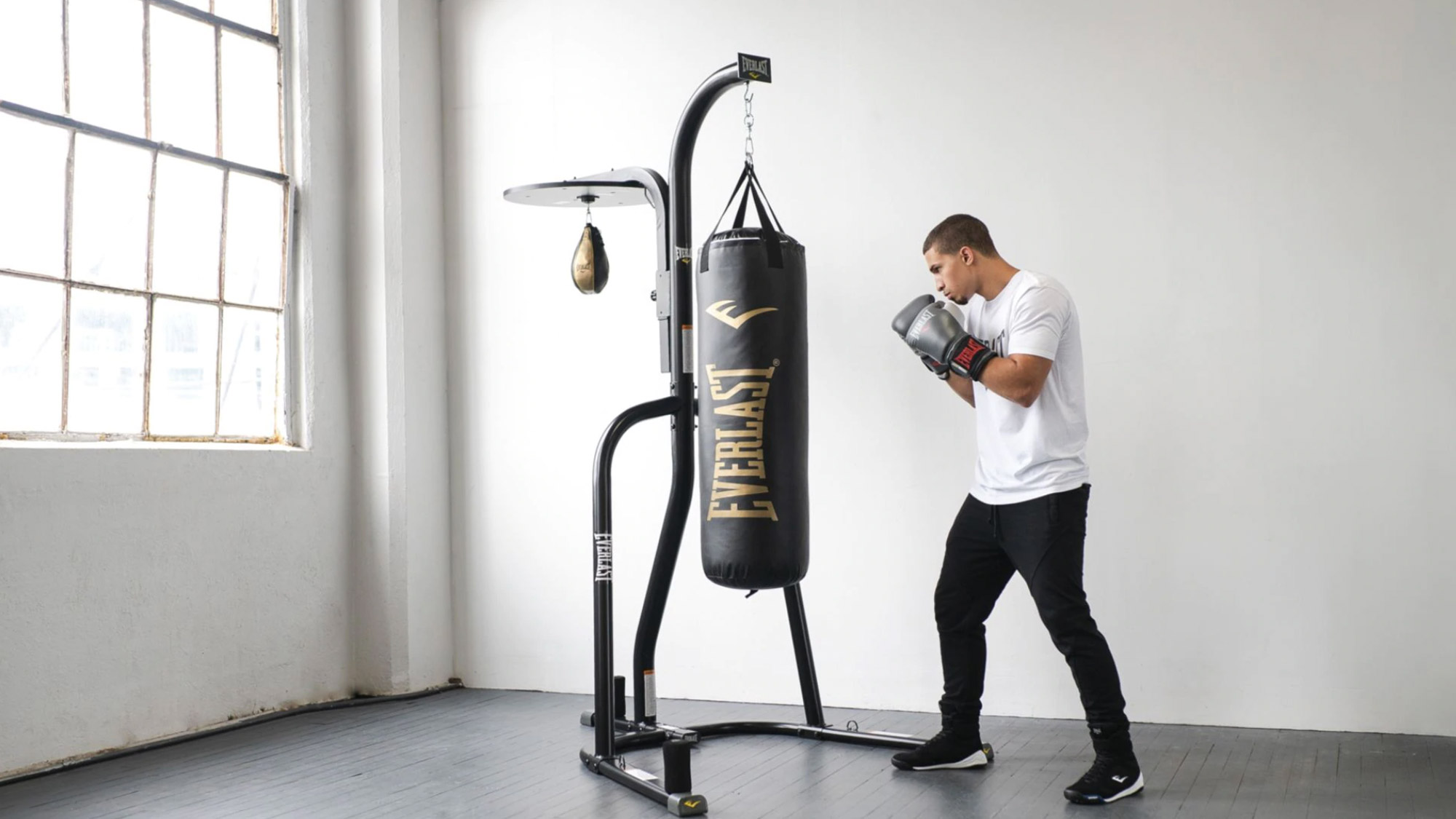 Best home gym equipment: Everlast Powercore Dual Bag and Stand