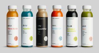 Juice society design packaging