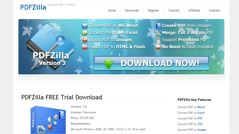 PDFZilla - A multilingual PDF to Excel app
