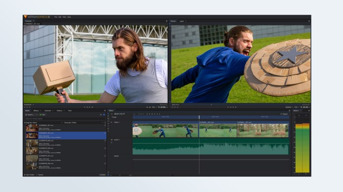 Best free video editing software: HitFilm Express