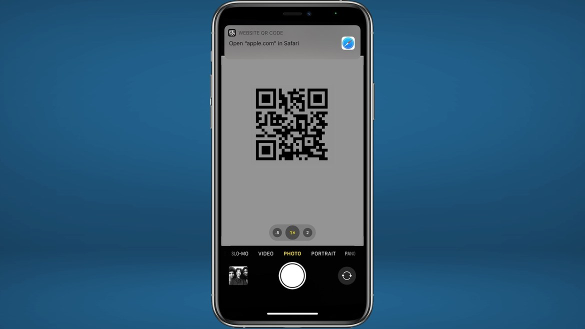 how to scan qr code ios