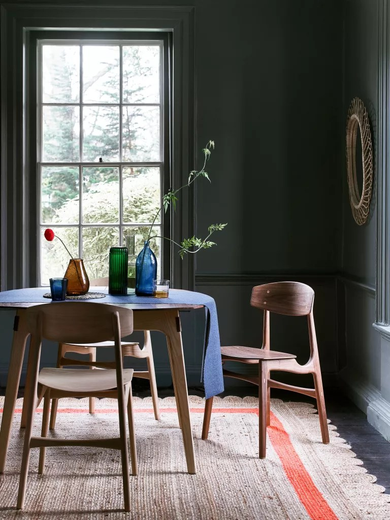 Dining room, decorating with grey