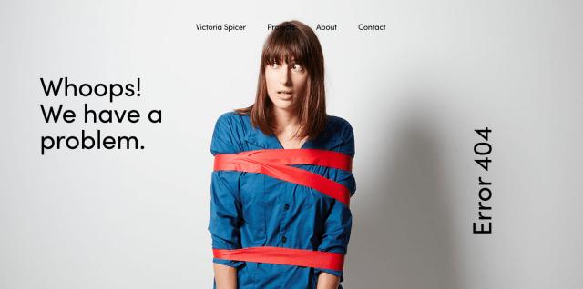 Victoria Spicer 404 error page
