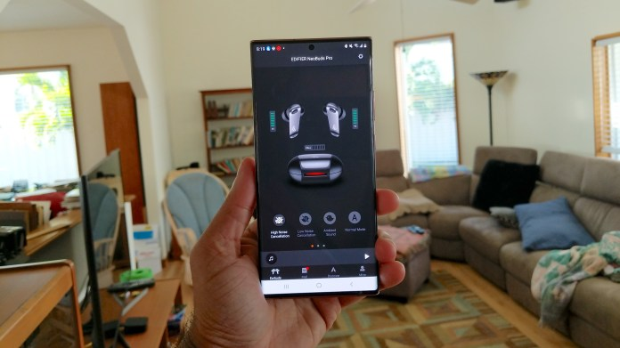 The Edifier Connect app on a smartphone