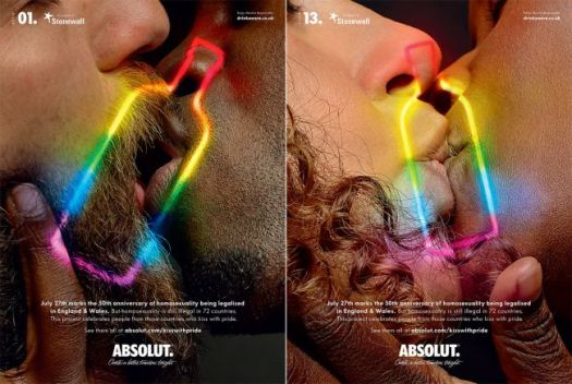 Absolut's 'Kiss with Pride' campaign