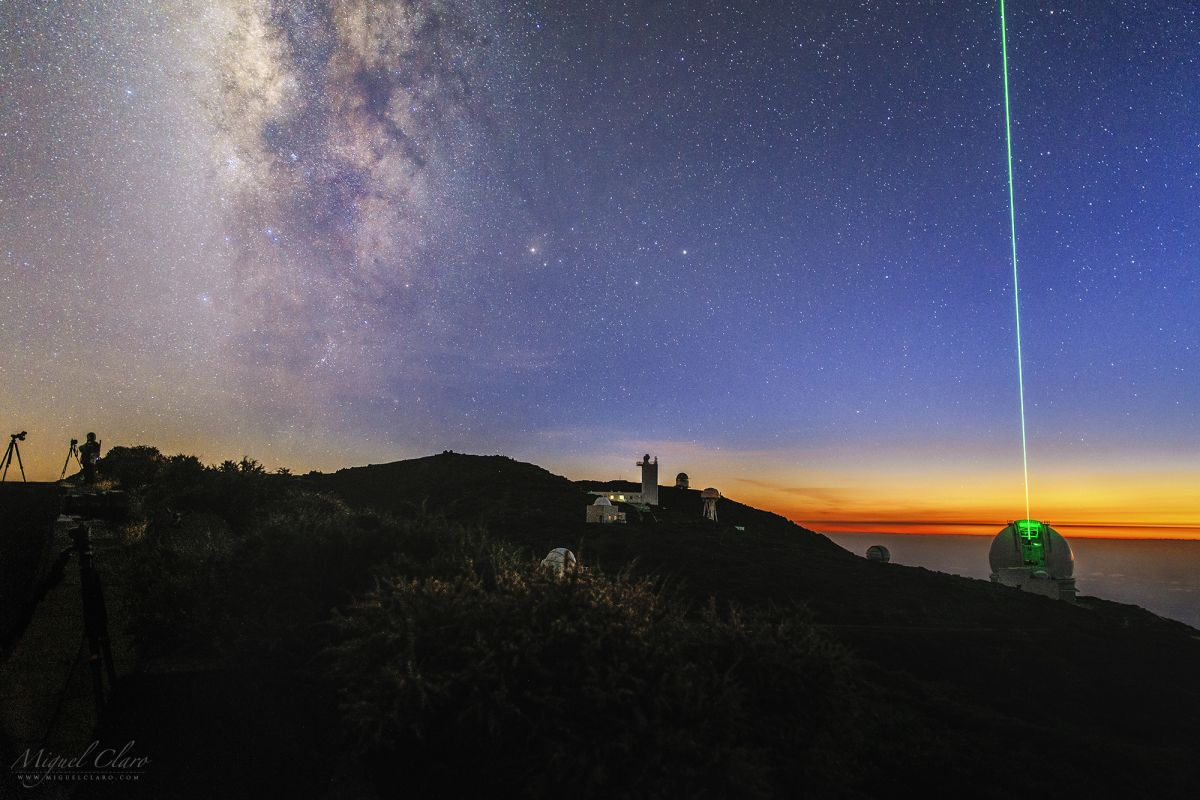 Milky Way Twinkles In Twilight In Spectacular Island View