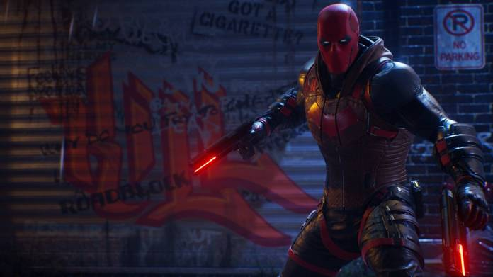 Red Hood wielding weapons in Batman: Gotham Knights