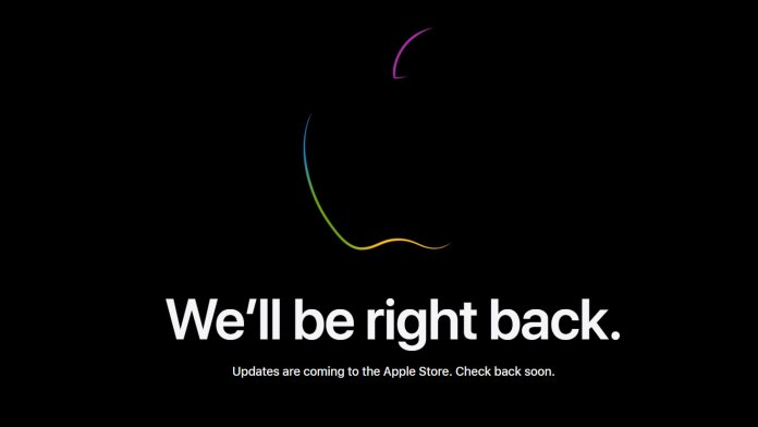 A screenshot of the Apple Store after it has been taken down