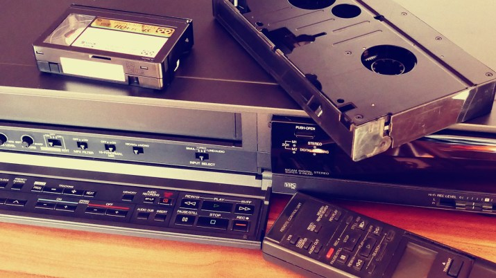 Image of video recorder and cassettes