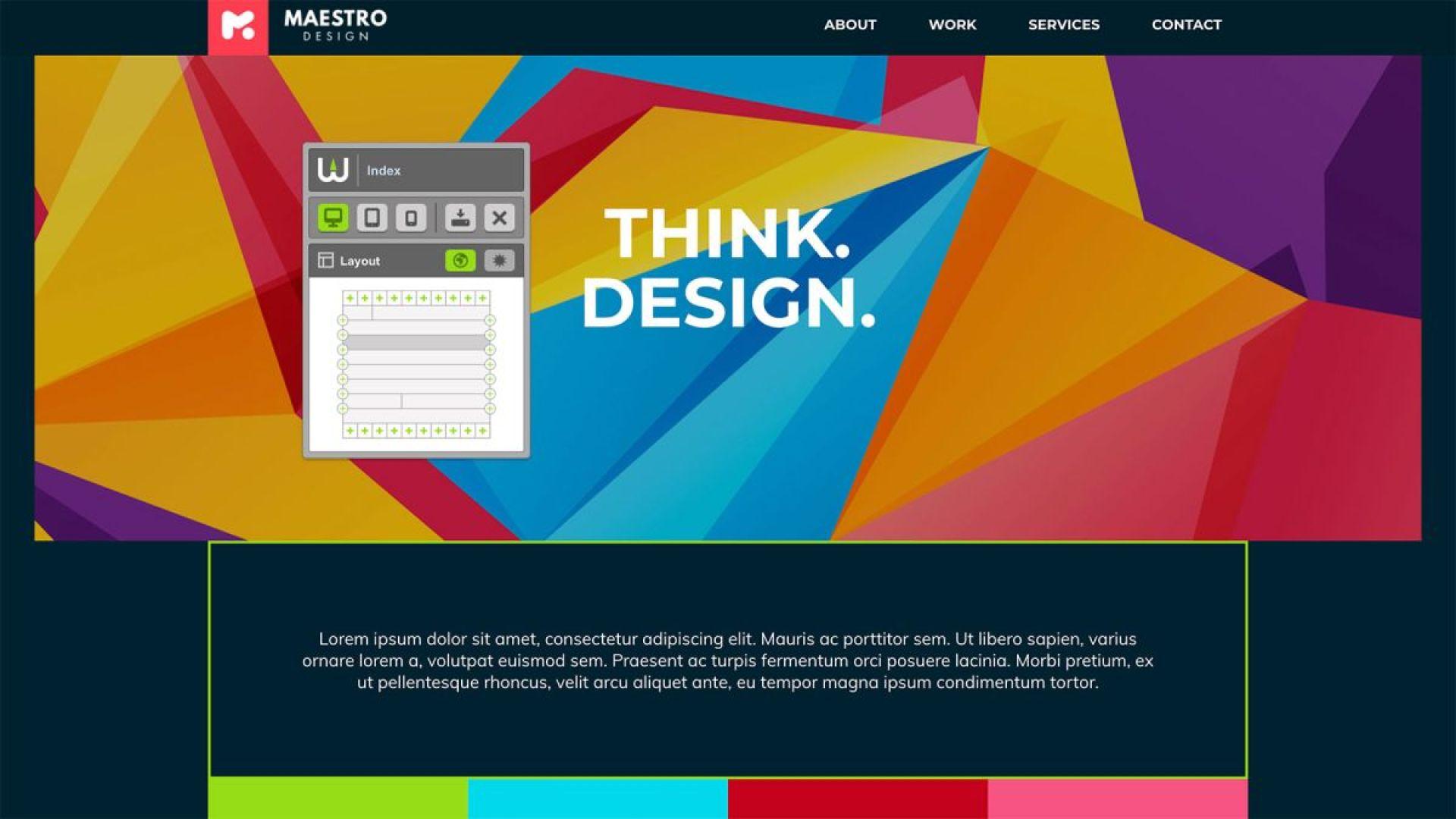 Explore code-free web design with Warhead