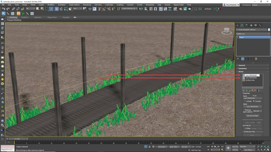 3ds Max - add grass and weeds