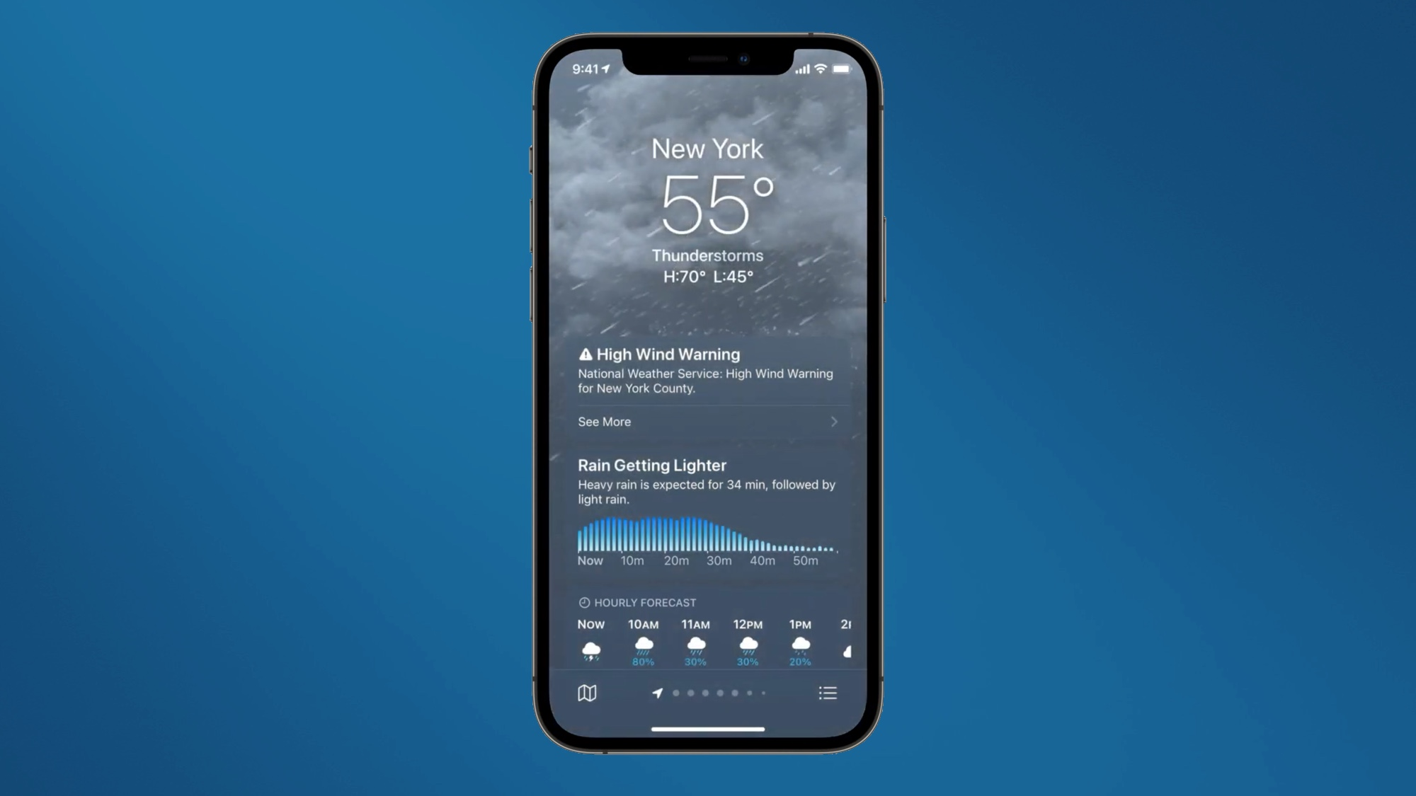 ios 15 features weather