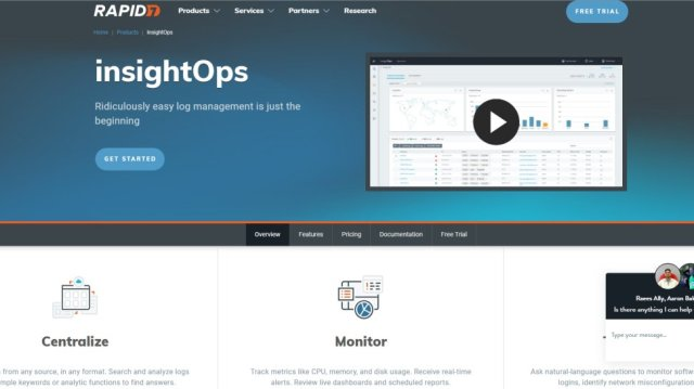 Rapid7's InsightOps cloud logging