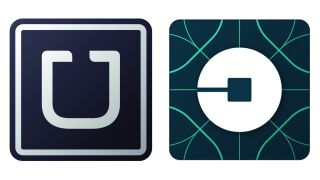 Uber logo (before and after)