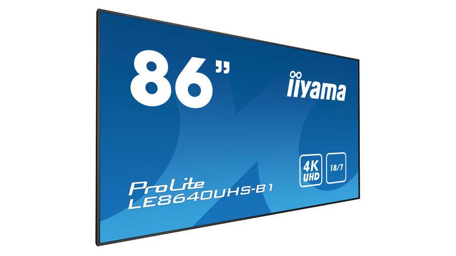 "iiyama ProLite LE8640UH-B1 86"" LED 4K Ultra HD"