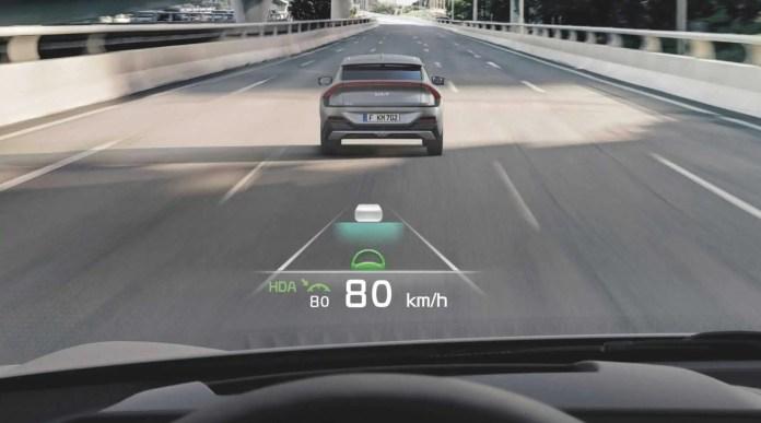 kia EV 6 augmented reality screen