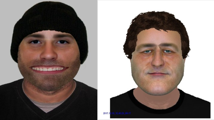 e-fit images of two men