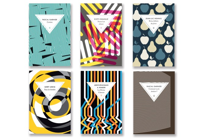6 book covers as part of a series designed by David Pearson