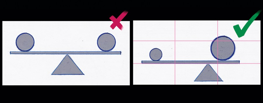 Rule of thirds - Asymmetric compositions