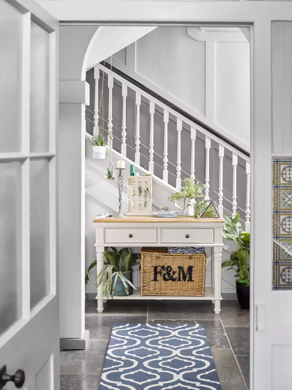 small hallway idea with a runner rug
