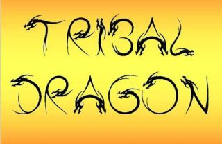 Tattoo fonts: Tribal Dragon