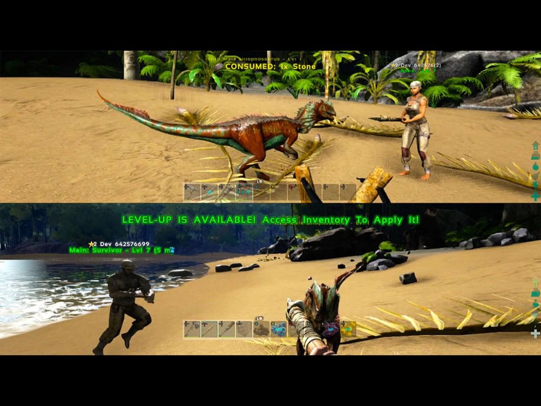 The best split screen PS4 games: ark survival evolved