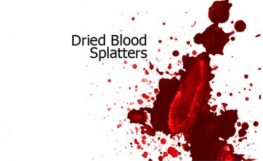free Photoshop brushes: blood