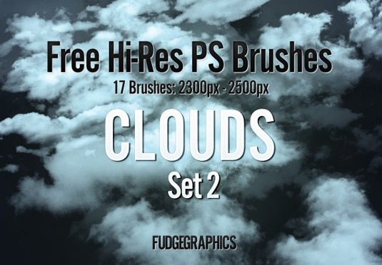 free Photoshop brushes: clouds