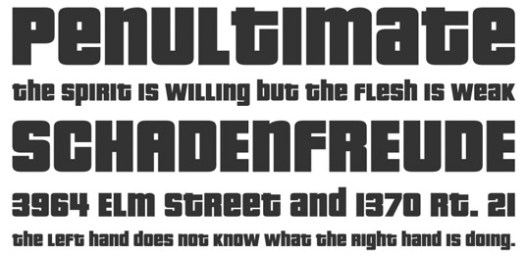 Retro fonts: Pricedown