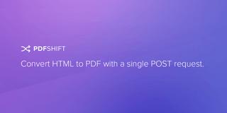 PDFShift homepage screengrab