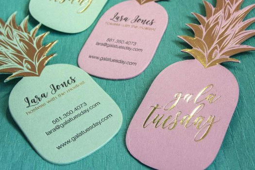 letterpress business cards: Gala Tuesday