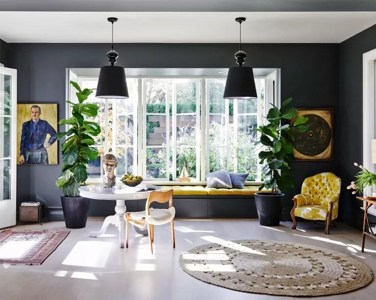 Dark living room ideas with 60-30-10 rule